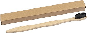 Zubní kartáček s bambusovou rukojetí,béžová