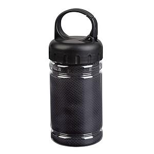 Chladící ručník v plastovém pouzdře, černý