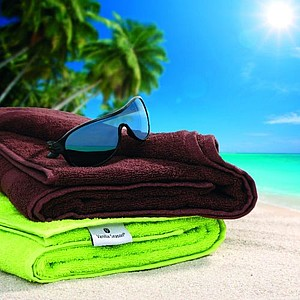 VS DEORIA SET 2 Sada zeleného ručníku a hnědé osušky, 530g