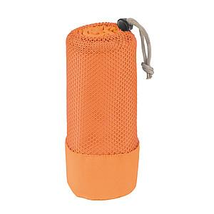 Velký rychleschnoucí ruční k mikrovlákna v obalu, oranžový