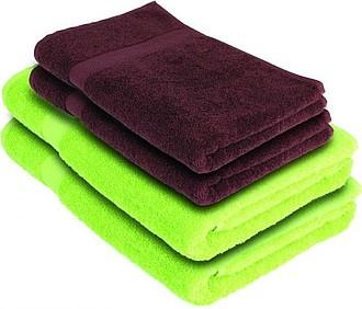 VS DEORIA SET 4 Sada 2 zelených osušek a 2 hnědých ručníků - reklamní bundy
