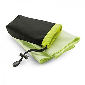 Sportovní ručník v nylonovém vaku, zelená