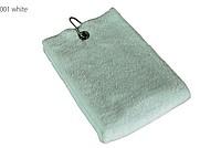 Golfový ručník s očkem 45 x 45 cm, bílá