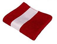 Osuška froté 400g 30x50cm s bordurou pro sublimaci, červená