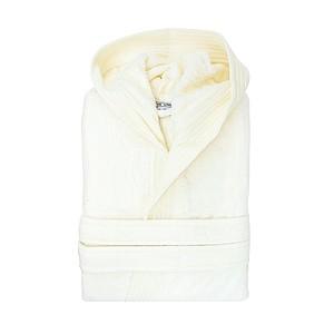 Sametový župan s kapucí 450 gr/m2, krémová, S/M