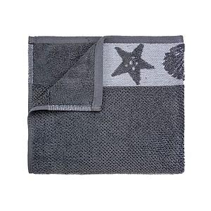 Set luxusních ručníků SUMMER se zdobenou bordurou 60x110 a 30x50 cm, 600 g, tm. šedá