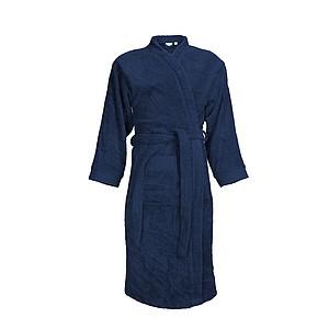 Župan KUSAMBA značky The One, unisex 340 gr/m2, námořní modrá, L/XL