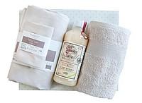 Set ložního prádla, ručníku na ruce a bio pracího prostředku