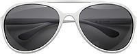 SHERA Sluneční brýle dodávané ve stahovacím pytlíku, bílé