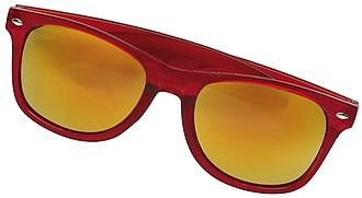OLIVAR Sluneční brýle se zrcadlovými skly, UV400, červené
