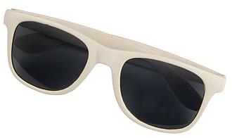 Sluneční brýle s širokými ráfky, béžová