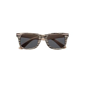 Sluneční brýle s UV400, obroučky v designu dřeva, šedé