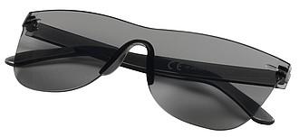 LURDY Jednobarevné sluneční brýle bez obrouček, černá