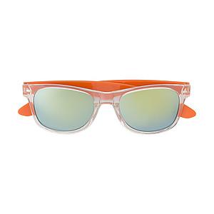 Plastové sluneční brýle s UV400, oranžové