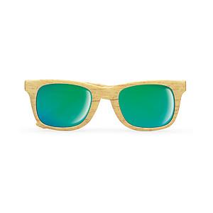 Sluneční brýle, vzhled dřeva, dřevo