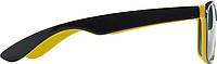 KRALO Plastové sluneční brýle s UV-400 ochranou, kombinace černá/žlutá