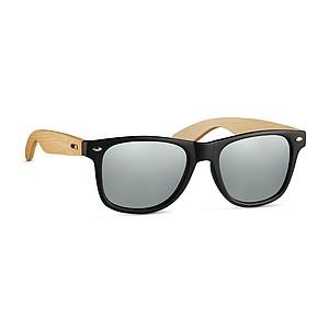 ARUBA Sluneční brýle s bambusovými nožičkami a zrcadlovými skly, stříbrné