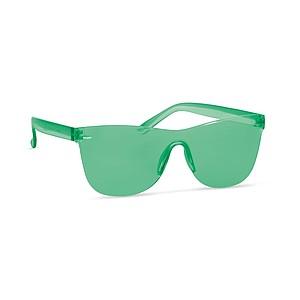 Bezobroučkové sluneční brýle, UV400, zelené