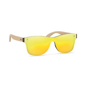 Sluneční brýle, s bambusovými nožičkami, UV400, žluté