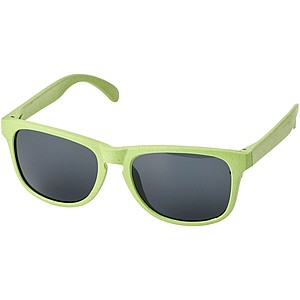 Sluneční brýle z pšeničné slámy, smaragdově zelená