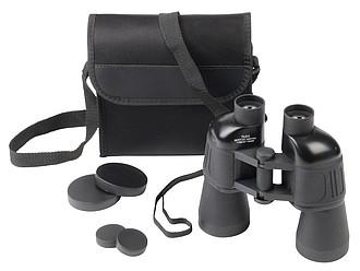 Plastový dalekohled v ochranném pouzdru, černá