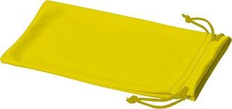 Sáček z mikrovlákna na sluneční brýle, žlutá