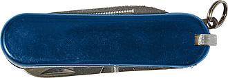 Nerezový kapesní nožík, modrý