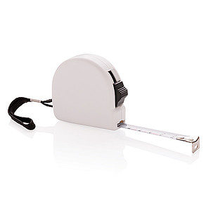 ABS měřící 3m pásmo s klipem, bílá