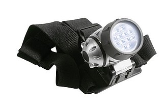KILIMAN Čelovka,12 LED,nastavitelné pásky i množsvtí zapnutých LED
