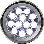 NEGRAS Kapesní baterka, 12 LED, stříbrná