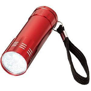 Kovová svítilna, červená