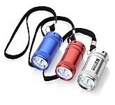 Svítilna s 5 bílými LED světly a nylonovým poutkem, stříbrná