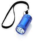 Svítilna s 5 bílými LED světly a nylonovým poutkem, modrá