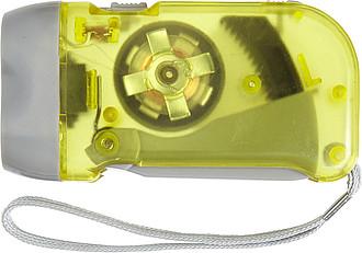 Průsvitná baterka, žlutá