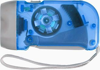 Průsvitná baterka, modrá