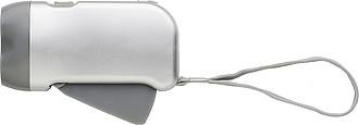 Průsvitná baterka, šedá