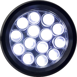 Kapesní baterka, 14 LED, černá