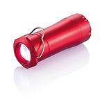 Hliníková campingová lucerna, červená