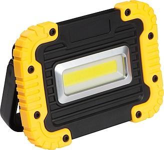 Pracovní COB lampa, žlutá