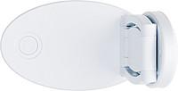 Plastová skládací lampa na čtení, 12 LED, bílá