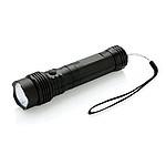 COB svítilna 2 v 1 spracovním světlem a baterkou, černá