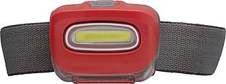 Čelovka s 8 silnými LED, červená