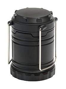 BEATKA Kempingová lampa s COB světlem, černá