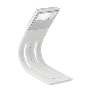 LED lampička na čtení s ohebným tělem pro snadné přizpůsobení úhlu, bílá