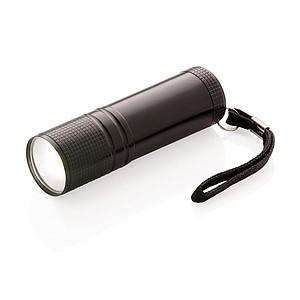 PACHANDA Vysoce zářivá kapesní COB svítilna, černá
