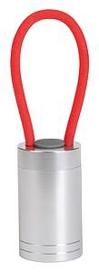 Svítilna s 6LED a červeným silikonovým poutkem