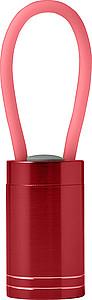GALIMO Malá hliníková baterka s LED diodami, červená