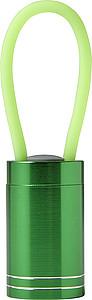 GALIMO Malá hliníková baterka s LED diodami, zelená