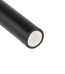 KAMPUS Hliníková COB svítilna s magnetem, černá