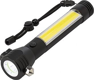 Hliníková multifunkční svítilna s COB